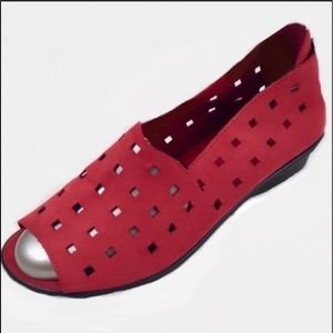 Sesto Meucci Evonne Italian Red Leather Slip On 8M